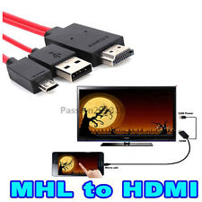 MHL Micro USB to HDMI 1080P HDTV Cable Adapter For Samsung Galaxy S5 Note 2 3