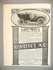 Cadillac Motor Car PRINT AD - 1910 ~~ Model H