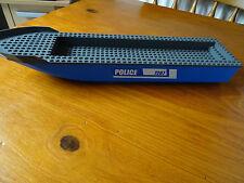 LEGO  54100c02pb02 BLUE BOAT HULL DARK GREY DECK 51 x 12 x 5  STICKERS ON 1 SIDE