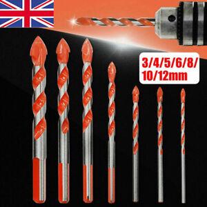 5/7PCS Diamond Tipped Drill Bit Set Twist Drill Bits Tile Stone Tools Cross Head