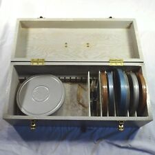 Vtg Mansfield Storage Box Case for Movie Film Reels & Cans 8mm 16mm