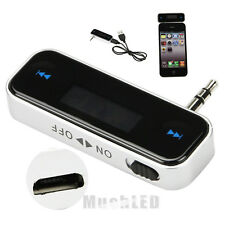 New Wireless Music to Car Radio FM Transmitter For 3.5mm MP3 iPod Phones Tablets