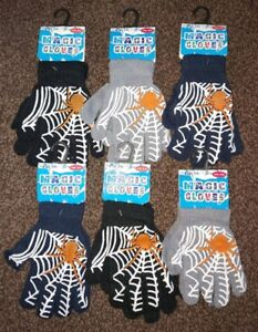 Kids Magic Gloves Pair Winter Warm Girls Boys Gripper Spiderman Children Unisex