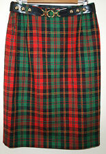 Vintage Givenchy En Plus Tartan Skirt Size 16