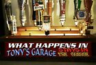 COLOR LED'S PERSONAL GARAGE 18 TAP HANDLE DISPLAY / W BUILT IN LIGHTED BAR SIGN