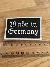 Made in Germany écusson/patch (Allemagne, biker, Rocker, pegida, Patrie)