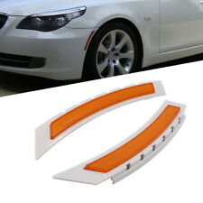 Pair Front Side Marker Bumper Amber Reflector For 08-10 BMW LCI E60 5 Series