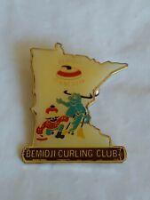 Bemidji Curling Club Minnesota Lapel Hat Jacket Pin Winter Sport