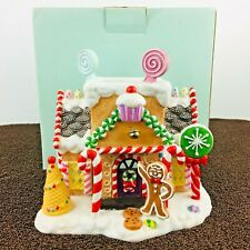 Partylite Retired Gingerbread Cottage House Village #1 Tealight Candle Holder