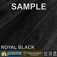 Royal Black Highland Ridge Laminate Longboard Flooring Sample