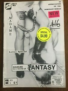 Madame Fantasy Vol 23 No 1 Swish Fem Dom TV CP Rubber Vintage Magazine Collector