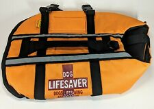 Life Jacket Orange Pet Saver Dog Vest Night Reflective Top Handle Lovable Dog
