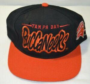 Vintage TAMPA BAY BUCCANEERS Bucs UNWORN Starter Snapback 100% Wool black hat