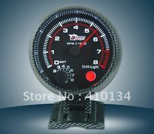"""3.75"""" REV COUNTER CARBON TACHOMETER SHIFT LIGHT 4-6-8 CYL saloon rally autograss"""