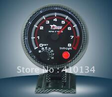 "3.75"" REV COUNTER CARBON TACHOMETER SHIFT LIGHT 4-6-8 CYL saloon rally autograss"