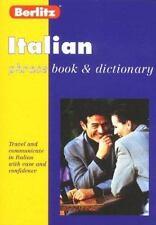Berlitz Italian Phrase Book and Dictionary Berlitz Mass Market Paperback