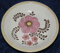 Pasta Serving Bowl Large Pink Floral Stoneware Royal China by Jeannette 11.75""
