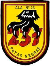 PARCHE EJERCITO AIRE ESCUADRON 231 SQUADRON AIR FORCE SPAIN EB01231 PATAS NEGRAS