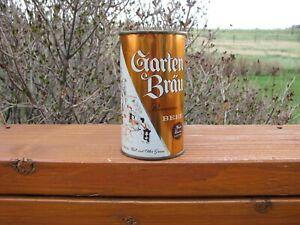 Bright Crisp GARTEN BRAU Potosi, Wisc. Old Flat Top Beer Can