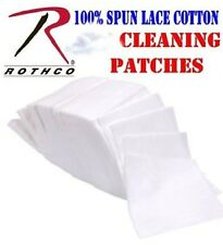 """100 Cotton Gun Cleaning Patches - Rothco 3"""" Dry Firearm Maintenance Patch Wipes"""
