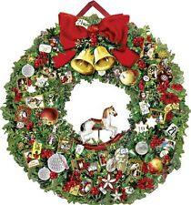 Christmassy Wreath Traditional Card Christmas Advent Calendar