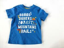 Baby Boy's Short Sleeved T-Shirt- Blue Mountain Trails Design- Age18-24 Mos- NEW