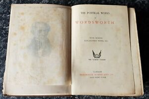 ANTIQUE BOOK.1907.POETICAL WORKS OF WILLIAM WORDSWORTH.MEMOIR.628 PAGES.PROP.