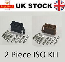 8 Pin Male ISO Car Stereo Radio Wiring Harness Connector Adaptor Block Loom