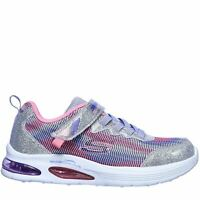 Skechers Kids Girls Air Dual Child Trainers Runners Elasticated Laces Strap