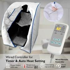 More details for portable far infrared 'insta-heat' sauna, heating foot pad and chair
