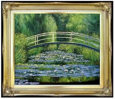 Framed, Claude Monet Water Lily Pond Repro, Hand Painted Oil Painting 20x24in
