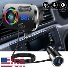 Bluetooth FM Transmitter MP3 Player Car Handsfree Adapter TF Slot USB Charger