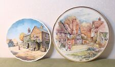 Lot Of 2 Collector Plates Royal Doulton Penny Wise & Edwardian Cottage Scene #3