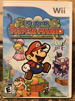 Super Paper Mario (Nintendo Wii, 2007) CIB W/manual- Tested- Fast Free Shipping