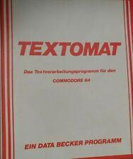 Textomat (Data Becker) Commodore c64 disquete (disquete + manual) 100% ok