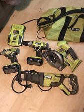 ryobi 18v tools used