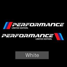 2PCS M Performance Limited Edition Aufkleber For BMW E46 E39 E60 X3 X5 X6 Weiß