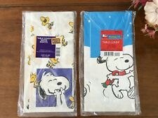 Peanuts Snoopy Table Covers Hallmark Vintage Collectible, Birthday Christmas New