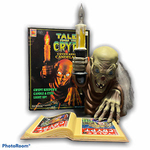 96 TALES FROM THE CRYPT Keeper Lighted CANDELABRA vtg Halloween Trendmasters