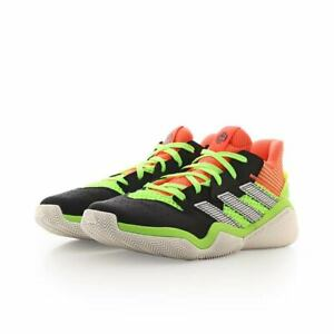 Adidas Boys Harden Stepback J Basketball Shoes Black Coral Green EH2769 Size 6