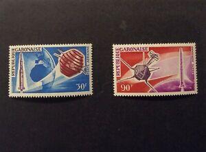 Gabon #C43-#C44, Mint, NH, OG