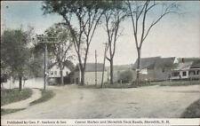 Meredith NH Center Harbor Road c1915 Postcard