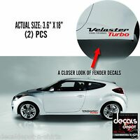 Fender Decal Vinyl Fits HYUNDAI Veloster Turbo  Rally Edition 2011 to 2019