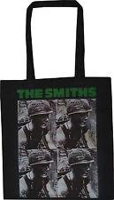 THE SMITHS BLACK COTTON TOTE SHOPPER BAG MEAT IS MURDER MORRISSEY ENGLISH VEGAN
