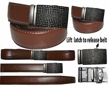 """Men's belt. Genuine Leather Dress & casual Belt Automatic lock Buckle UP to 50""""."""