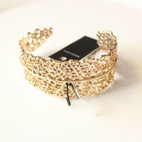 New Baublebar Leaf Open Bangle Cuff  Gift Fashion Women Party Holiday Jewelry FS