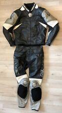 2- tlg. Lederkombi Arlen Ness Gr 52 Motorradkombi Schwarz Leather Suit Kombi