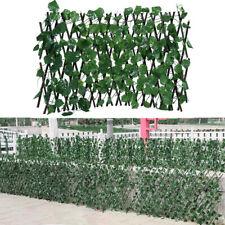 More details for artificial garden screening trellis expanding wooden fence plant leaves decor uk
