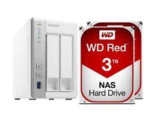 Nas Qnap TS-231P 2 Bay + 6TB (2x3TB) Hard Disk Interno WD Western Digital Red