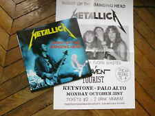 METALLICA Night of the banging head 2LP live at the keystone Palo Alto 83 poster